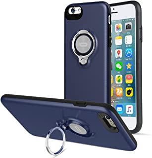 Compatible iPhone 6/6s Case with Ring Kickstand by ICONFLANG, 360 Degree Rotating Ring Grip Case Dual Layer Shockproof Impact Protection Apple iPhone 6 Case Blue Compatible with Magnetic Car Mount
