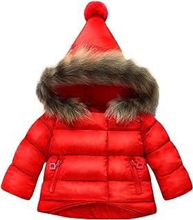 Baby Boys Girls Hooded Snowsuit Winter Warm Fur Collar Hooded Down Windproof Jacket Outerwear