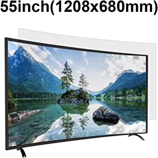 KUYUC Anti Blue Light 55 Inches TV Screen Protector, LED Ultra-Clear Screen Filter, Eye Protection Anti-Glare Filter Film, LCD Anti-Scratch Screen Protector (Color : A)