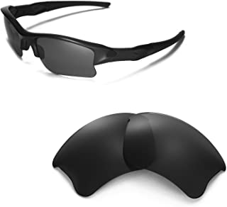 Walleva Replacement Lenses Or Lenses/Rubber Kit for Oakley Flak Jacket XLJ Sunglasses - 53 Options