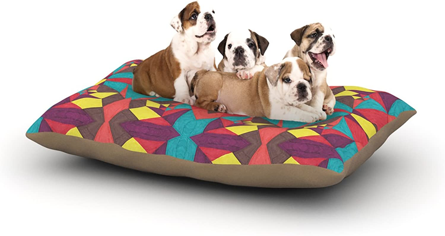 Kess InHouse Empire Ruhl Abstract Insects  Multicolor Dog Bed, 30 by 40Inch