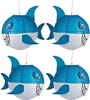 4 pc set - Shark Party Decorating Paper Lanterns