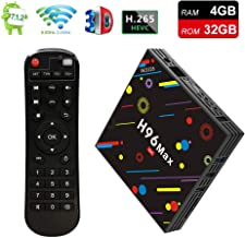 EstgoSZ H96 Max TV Box 4GB Ram 32GB ROM Android 7.1 RK3328 4K Smart Android TV Box Support 2.4G 5G Dual WiFi 100M LAN USB3.0 BT4.0 3D H265 UHD Android Box