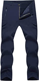 MAGCOMSEN Men's Winter Pants Water Resistant Fleece Lined Snowboard Ski Pants Softshell Tactical Pants with Multi-Pockets