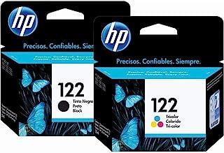 HP 122 Ink Cartridges Combo (Black + TRI-COLOR) Original Ink Cartridge Deskjet - 2 Pack