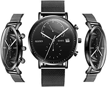 Olves Men's Fashion Waterproof Quartz Wristwatch