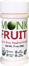 Organic 100% Monk Fruit Sweetener - Zero Calorie, Zero Carb, Paleo Safe (50% Mogroside V, 20g, 400 Servings)