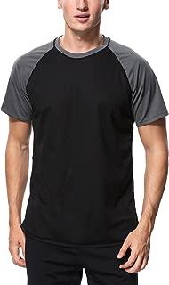 Charmo Mens Sun Protection Swim Shirts Rash Guard Swim Tee Short Sleeve Swimwear