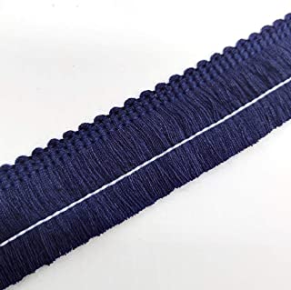 Cotton Fringe Tassel Trim (Navy)