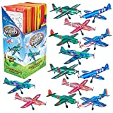 ArtCreativity Super Foam Gliders for Kids, Bulk Set of 24, Lightweight Planes with Various Designs, Individually Packed Flying Airplanes, Fun Birthday Party Favors, Goodie Bag Fillers for Boys & Girls