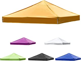 10x10ft Pop Up Canopy Cover Replacement Gazebo Top Outdoor Pavilion Cover Pergola Canopy Tent Top Sunshade for Garden Yard...
