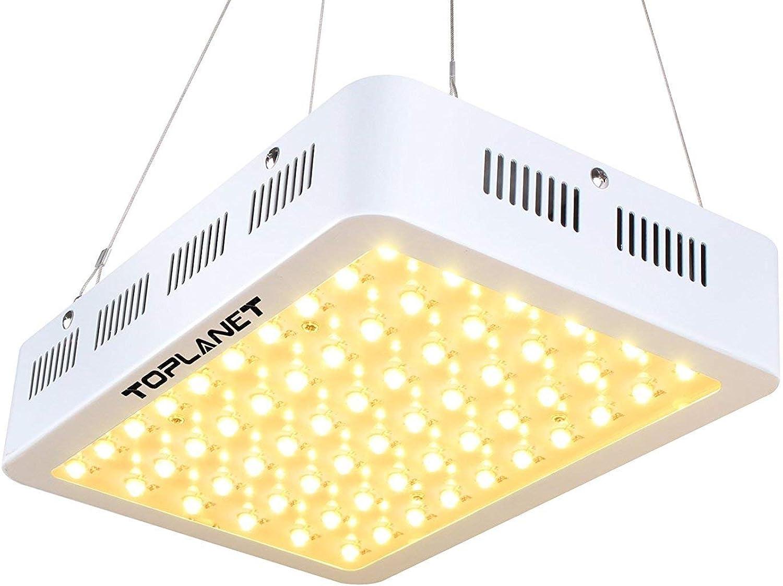 TOPLANET Led Pflanzenlampe 300w Wachstumslampe Pflanzenlicht Full Spectrum Led Zimmerpflanzen für Grow Box Indoor Grünhouse von Gemüse, Nutzpflanzen und Blaumen
