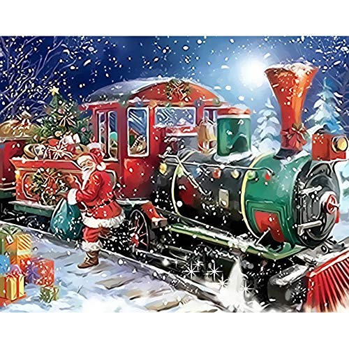 Rompecabezas de 1000 piezas, regalo de tren de Papá Noel, arte de pared moderno, regalo único, decoración del hogar