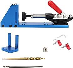 Pocket Hole Jig Kit, 2-håls borrstyrning justerbar + träskivfäste Pocket Hole Jig System Kit, tillbehör för handverktyg me...