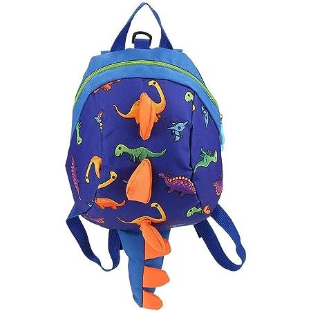 Mochila Infantil Dinosaurio - WENTS 3D Dinosaurios Mochila para Niños Infantil Guarderia Mochila Anti-perdida Bolsa de Cinturón de Seguridad Escolar Lindo Animal La Mochila (Azul Marino)