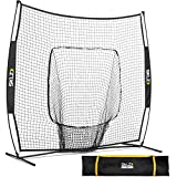 SKLZ Portable Baseball and Softball Hitting Net with Vault, 7 x 7 feet