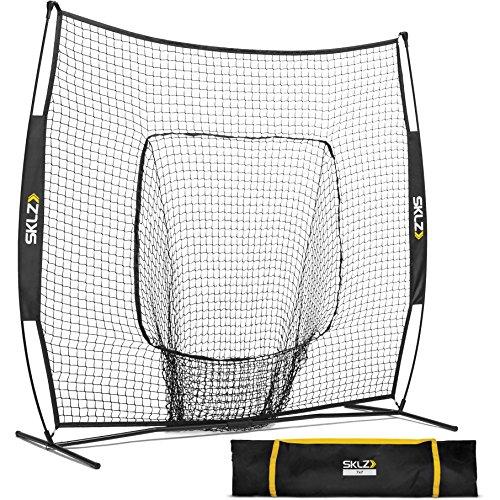 SKLZ Portable Baseball and Softball Hitting Net with Vault, 7 x 7 feet