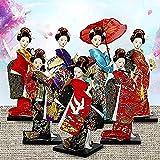 25 cm Kawaii Japanese Geisa Beautiful Geisha Figura Muñecas con Hermoso Kimono Casa Nueva Decoración Decoración Miniaturas Regalo de cumpleaños Figura Anime (Color: 9 013) -9 009
