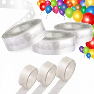 Balloons Arch Garland Decorating Strip Kit, 3 Rolls 16 Feet Balloon Strip Tape and 3 Rolls Balloon Glue Points for Birthday Wedding Decorative Party Balloon Decorations