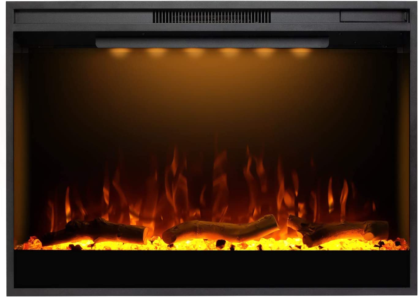 Mystflame Electric Fireplace, 36 Inches Recessed Electric Firepl