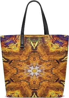 Women Chakra Meditation Art Blue Yellow Yoga Spiritual Handle Satchel Handbags Shoulder Bag Tote Purse Messenger Bags