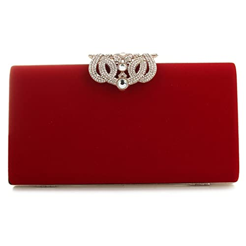 Red Clutch Bags  Amazon.co.uk 254f502d2f30