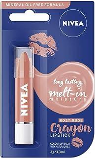 NIVEA Rosy Nude Moisturising Lipstick Crayon, 3 g