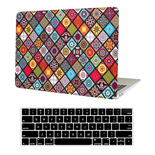 AUSMIX Newest MacBook Pro 13 inch Case 2020 2019 2018 2017 2016 Release Model:A2289 A2251 A2159 A1989 A1706 & A1708,Plastic Hard Shell Case with Keyboard Skin Cover for Apple Mac Pro 13,Bohemia