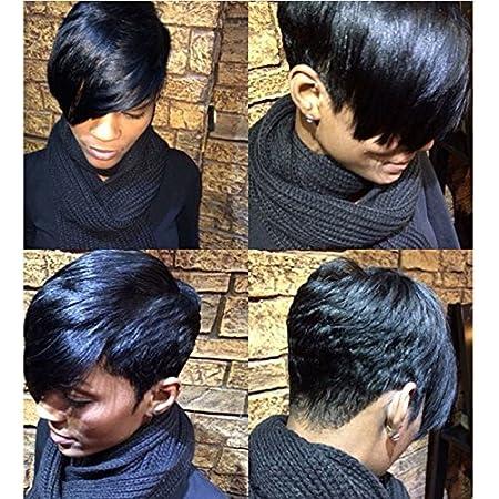 Amazon Com Short Straight Layered Hairstyle Short Hair Wigs For Black Women Black Haircutss For Black Women Natural Hair Wigs Beauty