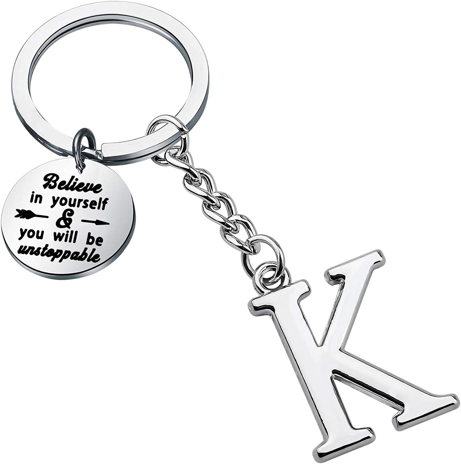 FUSTMW Initial Keychain Max 55% OFF Alphabet Letter Pendant Tampa Mall Ring Key