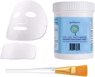Getitpure Illuminating Carboxy Co2 Gel Face and Neck Mask Bulk Size (20 Applications x 25ml) All Skin Type Brightening Moisturizing Elastic Skin Stress-free Skin
