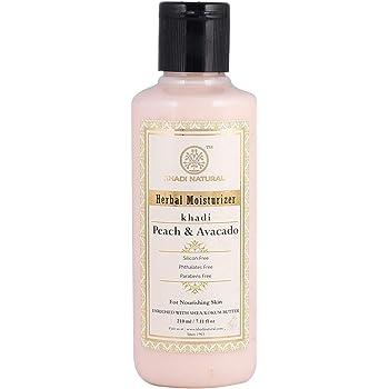 KHADI NATURAL Peach and Avacado Herbal Moisturizer With Shea/Kokum Butter, SLS and Paraben Free, 210 ml