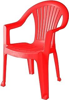 كرسي بمسند للذراع نيو جينيف من الهلال والنجمة، 85.5×56.5 سم - احمر