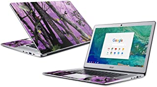 """MightySkins Skin Compatible with Acer Chromebook 15"""" (2018) - Purple Tree Camo 