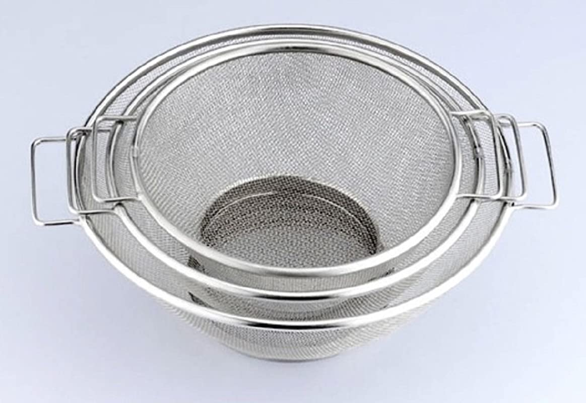 Uniware Stainless Steel Strainer Set Of 3 7 Inch 8 Inch 10 Inch