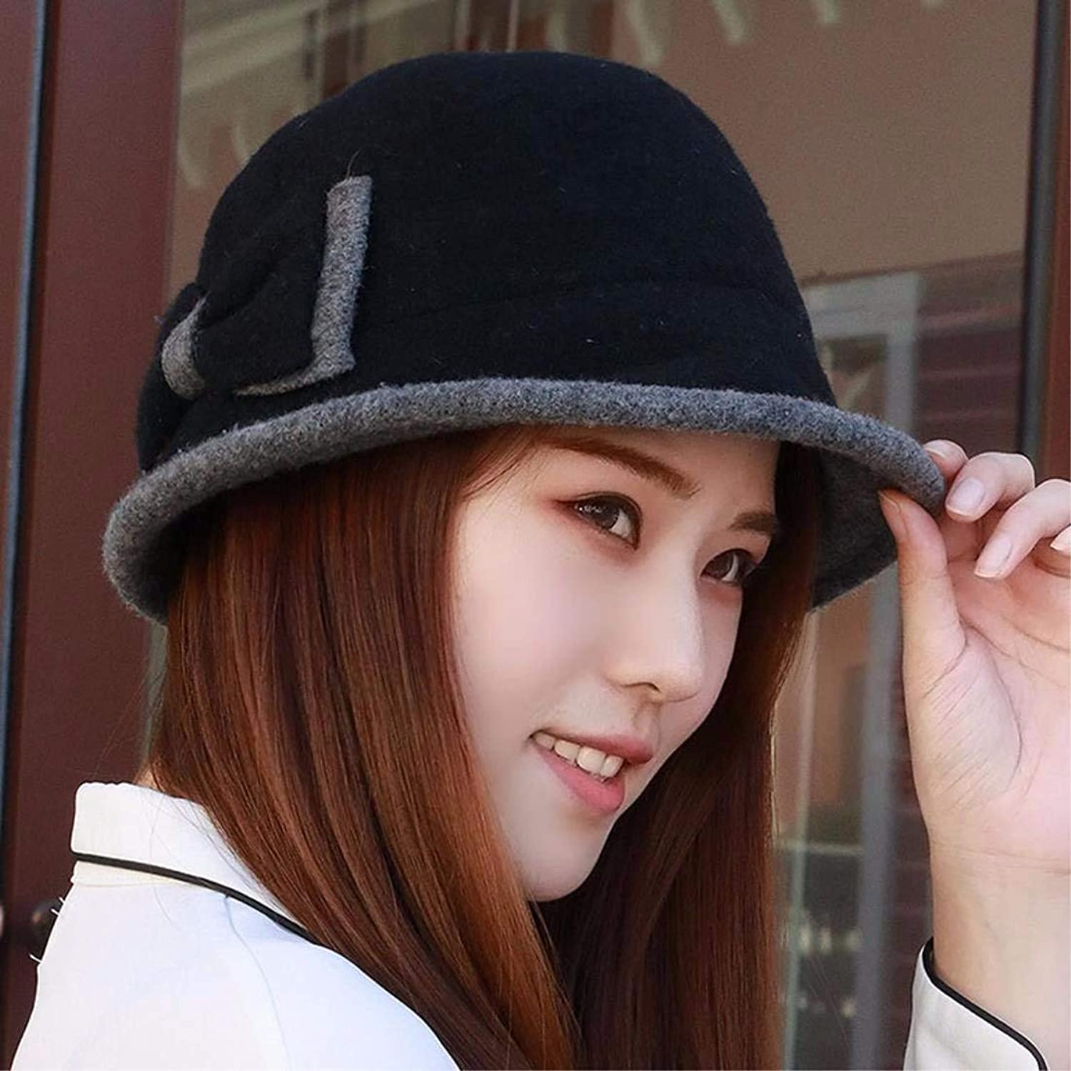 Chuangshengnet Fashion hat cap, fisherman hat, curled edge, small hat, winter hat,