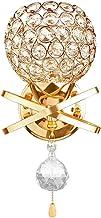 gazechimp Candeeiro de Parede de Cristal Arandelas de Cabeceira Luz Pendente E26 / E27 Varanda de Estudo - Ouro, Tamanho real