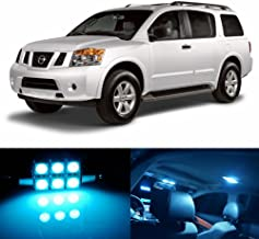 skylightauto 18pcs LED Premium ICE Blue Light Interior Package Deal for Nissan Armada 2005-2015