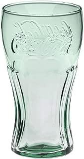 Classic Coca-Cola Glass in Georgia Green 17.2oz/510ml Coke Glass