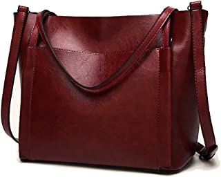 Women Leather HandBag Shoulder Bag Popular Women Messenger Bag Casual Soft Faux Leather Shoulder Bag Tote PU Leather Shoul...