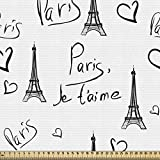 ABAKUHAUS Paris Gewebe als Meterware, Eiffel Ich Liebe Dich