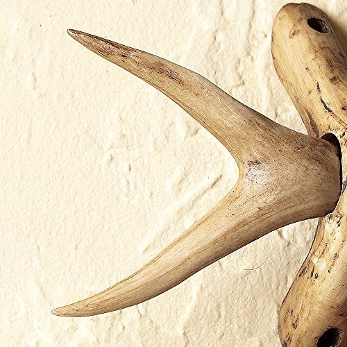 BLACK FOREST DECOR Forked Antler Curtain Rod Finials (Set of 2)