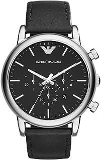 Emporio Armani Men's AR1828 Dress Black Leather Watch