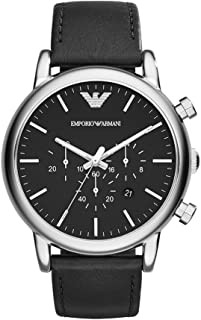 Emporio Armani Men's Classic Analog Analog-quartz Black Watch, (AR1828)