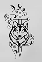 Sword Wolf Animal Predator Tribal Rubber Stamps custom stamps rubber