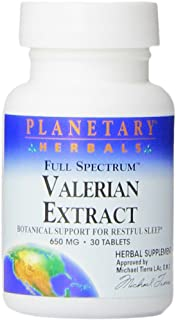 Planetary Herbals Full Spectrum Valerian Extract Tablets, 30 Count