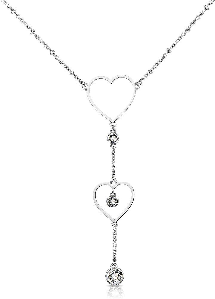 Brosway collana donna sight in acciaio con cuori e swarovski 8053851039929