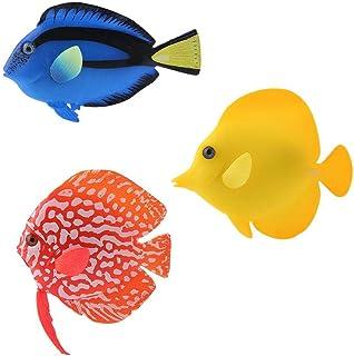 Luxury 3-Piece Set Fish Ornament Aquarium Decoration Artificial Fake Fish Luminous Tropical Fish Decor Silicone Fake Fish ...
