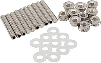 NewYall Stainless Exhaust Manifold Head Studs Bolts Nuts Kit