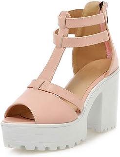 3e61dc00f Women High Heel Sandals Peep Toe Gladiator Shoes Women Heels Sandalias  Platform T Strap High Heel